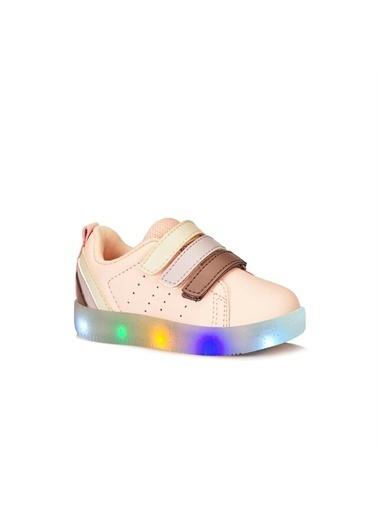 Vicco Vicco Bebe Işıklı Ayakkabı Kız Çocuk Pudra Pudra
